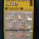 12 Golden Lite Glow Jigs Ice Fishing Lures #10 NEW