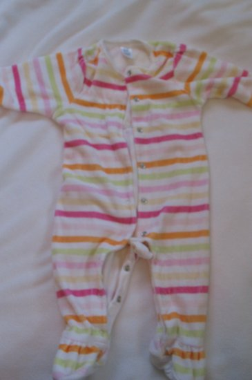 3-6 month Baby Gap striped footed outfit