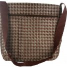 Marc Gold Brown/Tan Hounds tooth Messenger Bag