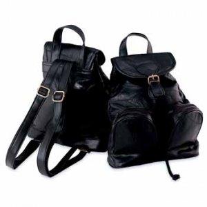 Genuine Lambskin Leather Backpack Purse