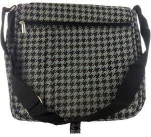 Marc Gold Black/Silver Houndstooth Messenger Bag