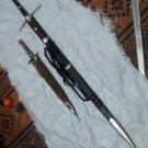 LOTR ARAGORN STRIDER SWORD W/KNIFE + STING SWORD W/SCABBARD