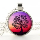 Tree necklace - Silver pendant - Picture jewelry - Woodland photo pendant that comes with gift bag