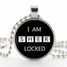 Sherlock Holmes Necklace - Silver Pendant - I am Sherlocked Memorable Quote Art