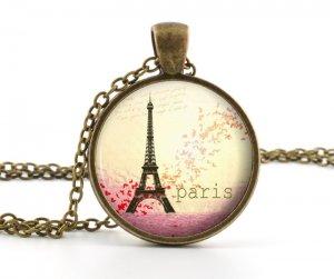 Paris Necklace - Retro Paris Jewelry - Vintage Eiffel Tower Pendant - Antique Bronze