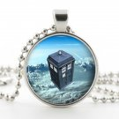 Doctor Who Tardis Pendant - Necklace - Silver Pendant - Time Machine Sci Fi Art - Dr Who Jewelry