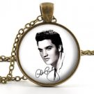 Elvis Picture Pendant - Necklace - Vintage Elvis Presley The King of Rock Art