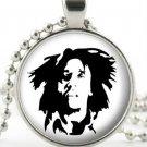 Bob Marley Pendant - Necklace - Silver Pendant - Reggae Singer Icon Jewellery