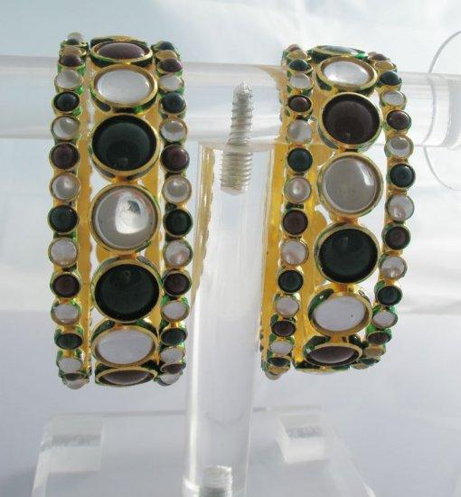 Set of Six Kundan Bangle Bracelet
