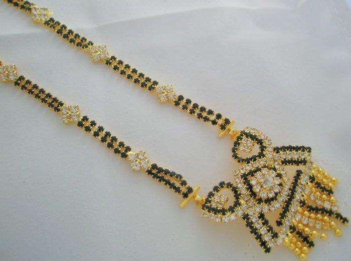 22K Gold Plated American Diamond Mangalsutra Unique Latest Modern Fancy Design