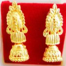 Small Jhumka Earrings Gold Plated Metal Indian Bollywood Fashion Jewellery