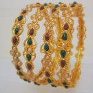 4 Pc Rajasthani Jewelry Kundan Bangle Bracelet Set