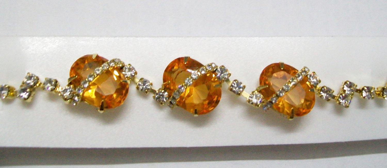Stunning  Designer 24K Gold Plated Bracelet with Citrine