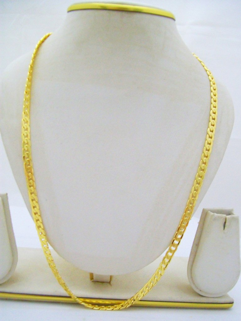 Cuban Curb Link Cable Gold Plated Chain Necklace