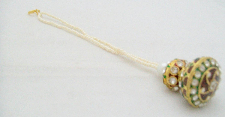 Borla Rajasthani Style Maang Tikka Pearl Traditional Indian Wedding Bridal Jewellery