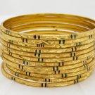 12Pc 22K Gold Plated Meenakari Bangle Bracelet Set