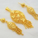 Handcrafted Filigree Gold Plated Pendant Earring Set