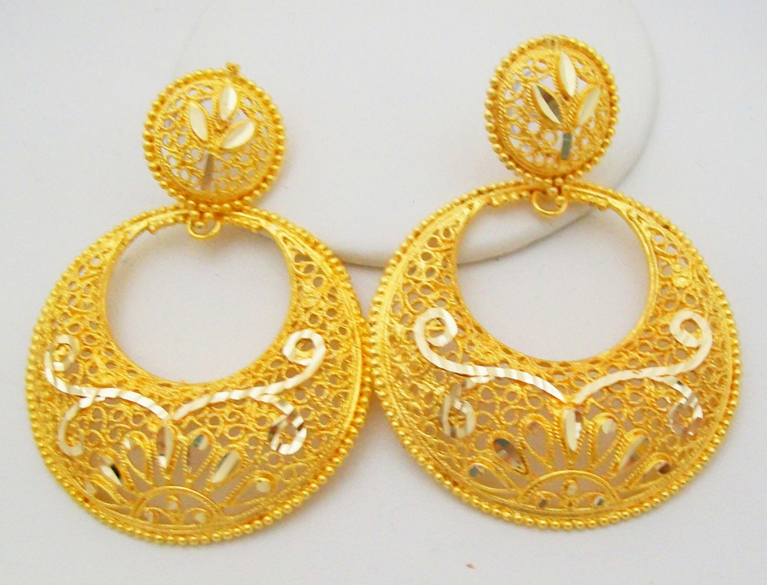 round basic f gold earring earrings bjs