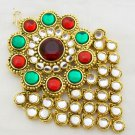 Kundan Jhoomar Passa Ethnic Indian Wedding Hair Jewelry