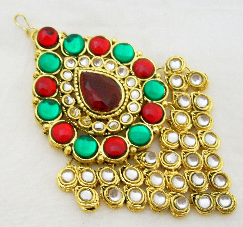 Kundan Jhumar Passa Hair Jewellery Side Piece Tikka