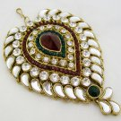 Huge Artificial Kundan Jhoomar Side Maang Tikka Hair Fashion Jewellery