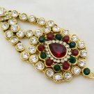 CZ Diamante Kundan Jhumar Jhoomar Passa Side Tikka Indian Hair Headpiece Jewelry