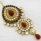 CZ Diamante Kundan Jhumar Passa Tikka Indian Bridal Hair Head Bollywood Jewelry