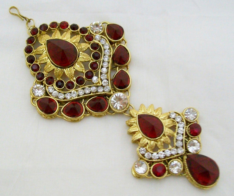 Jodha Akbar Kundan Jhoomar Indian Bridal Hair Jewelry