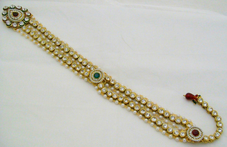 Handmade Choti Indian Bridal Hair Jewelry Accessories Boho