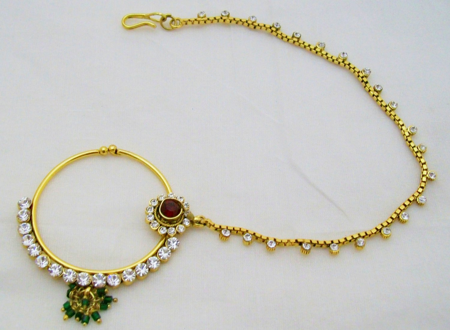 nath indian nose ring bridal fashion jewelry