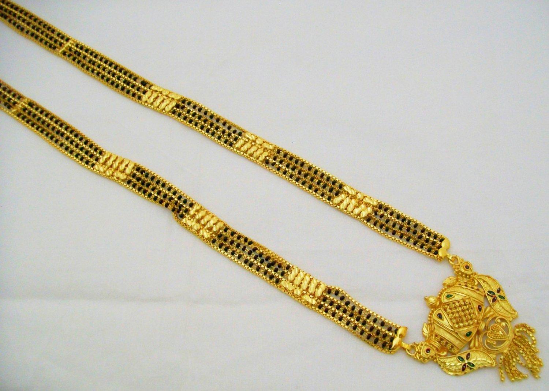 22k Gold Plated Mangalsutra Indian Filigree Design Rajasthani ...