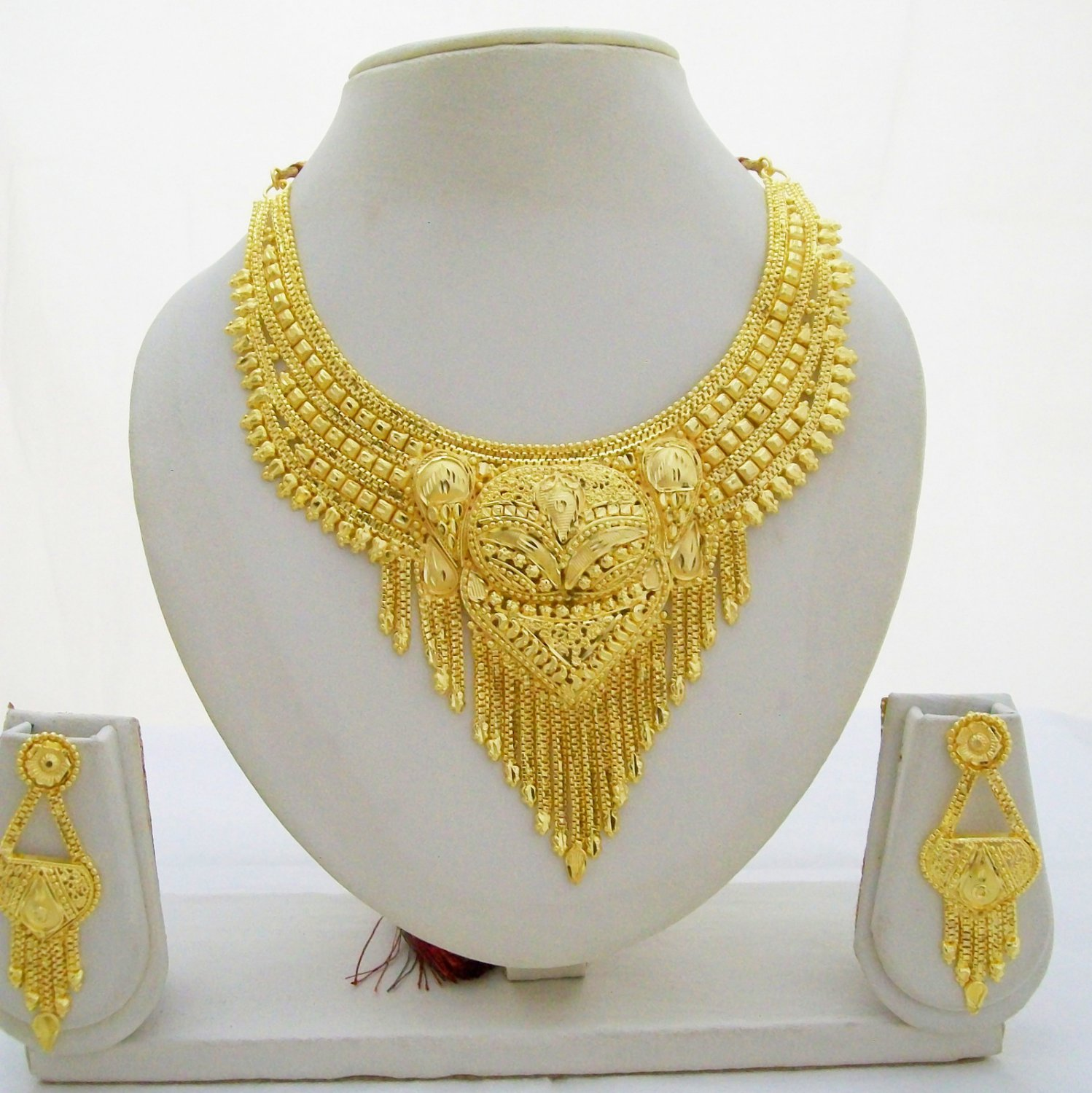 fashion jewelry indian south traditional gold bollywood jewellery set plated