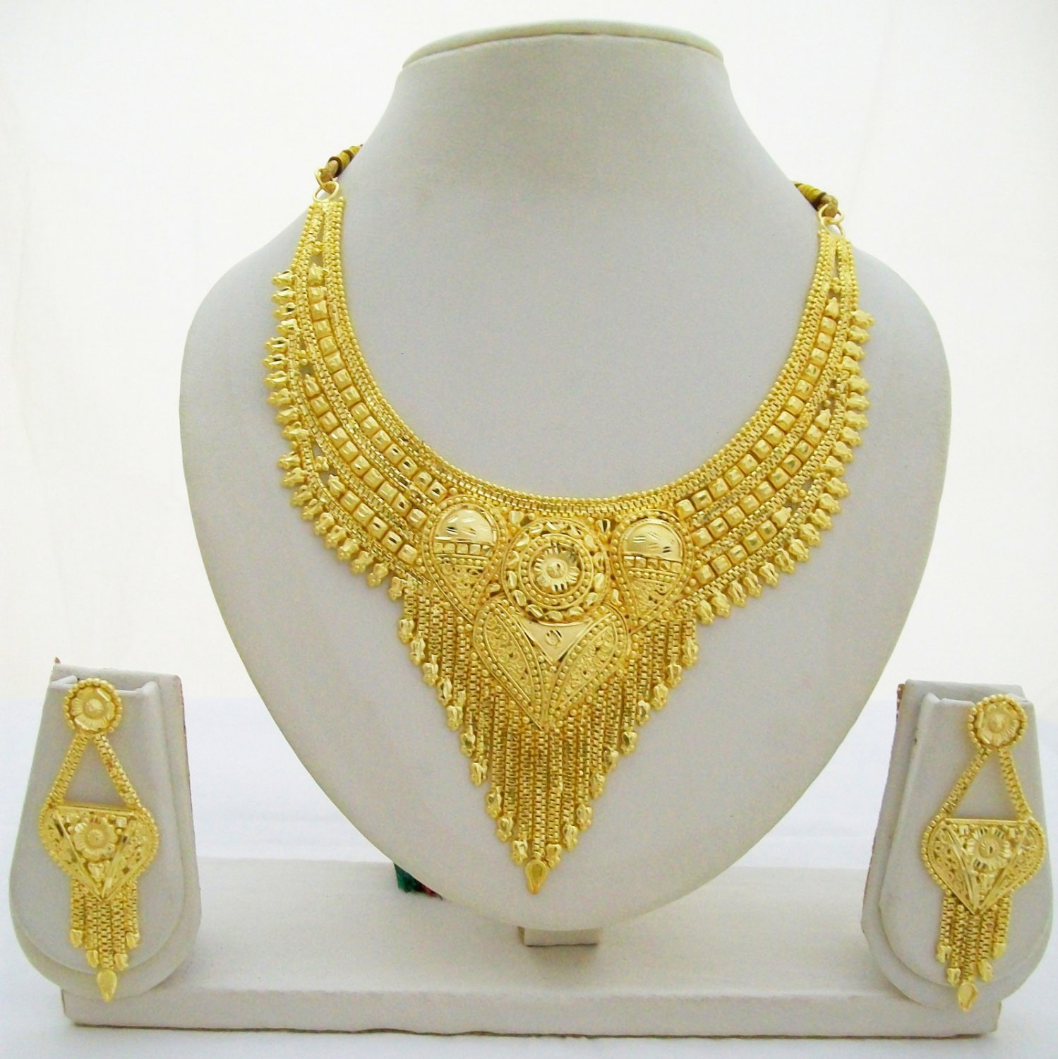 Indian Gold Plated Choker Necklace Traditional Bridal
