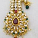 Kalgi Turban Pin Brooch Jewel Indian Groom Jewelry Kundan