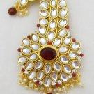 Kundan Kalgi Turban Pin Brooch Antique Royal Indian Maharajah Wedding Jewellery