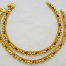 Gold Plated Anklets Payal Indian Foot Chain Ankle Bracelets for Women