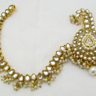 Kalgi Sehra Safa Turban Sherwani Brooch with Chain Indian Groom Fashion Jewelry
