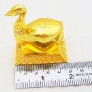 Designer Swan Sindoor Kumkum Dani Haldi Roli Holder Chopda Box Pooja Jaipur Gold Plated