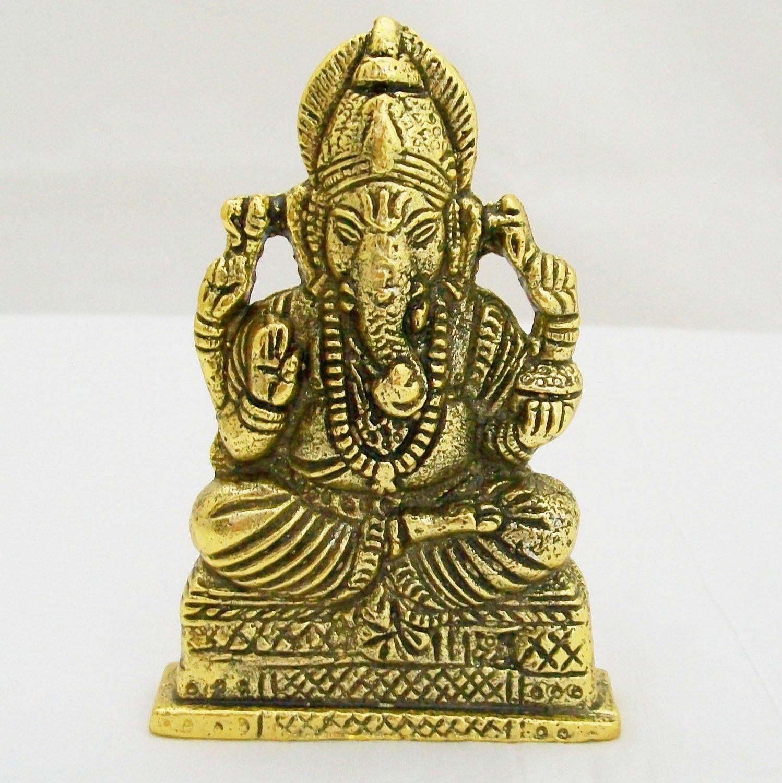 Metal Ganesh Idol Ganapati Figurine Statue Home Decor Puja Vastu Decoration Car Dashboard Gift India