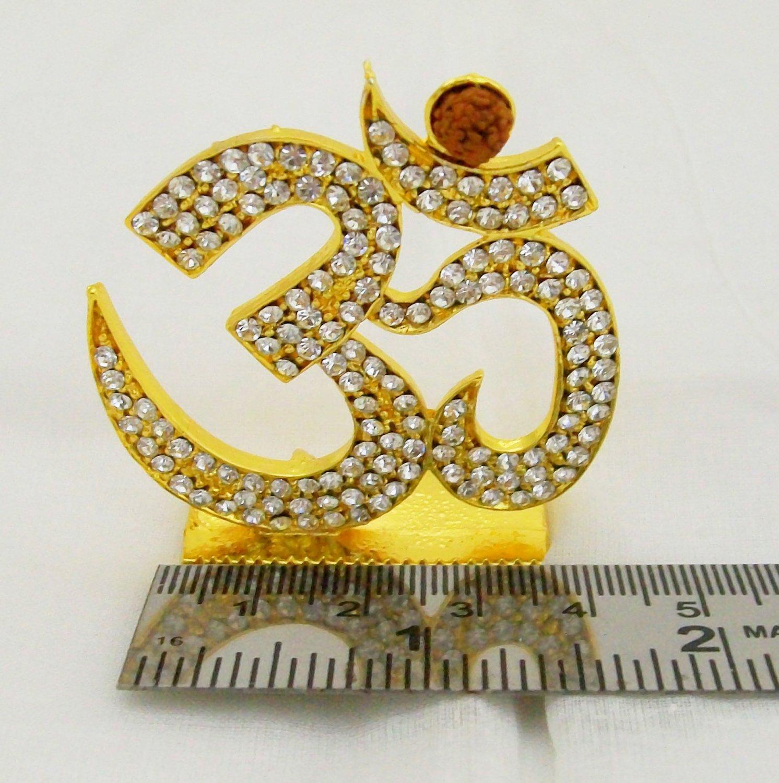 Om Design Symbol for Car Dashboard God Idol Yantra Decoration Item Home Mandir Puja Room Hindu India