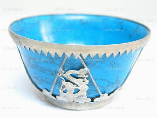 Genuine Tibet Turquoise Stone Bowl(GY120088)Genuine Tibet Turquoise Stone Bowl(GY120088)