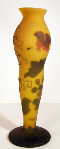 50: Art Glass Cameo Vase