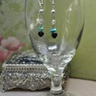Turquoise Bead Drop Swarovski Crystal Earrings