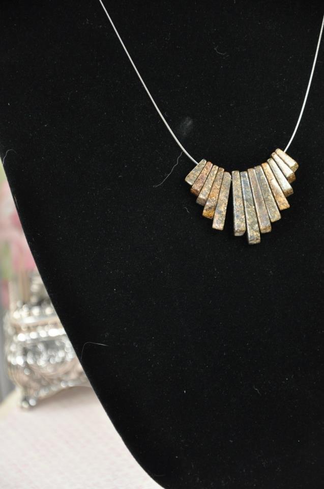 Bronzite Fringe Necklace