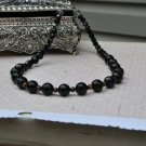Black Onyx and Tiger Eye Gem Bead Necklace