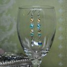 Aqua Blue Honey Glass Crystal Bead Drop Earrings