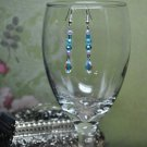 Soft Purple and Blue Crystal Swarovski Drop Bead Earrings