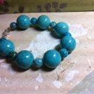 Blue Turquiose Chunky Bead Bracelet