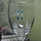 Blue Regal Drop Bead Earrings