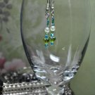 Green and Blue Heart Earrings